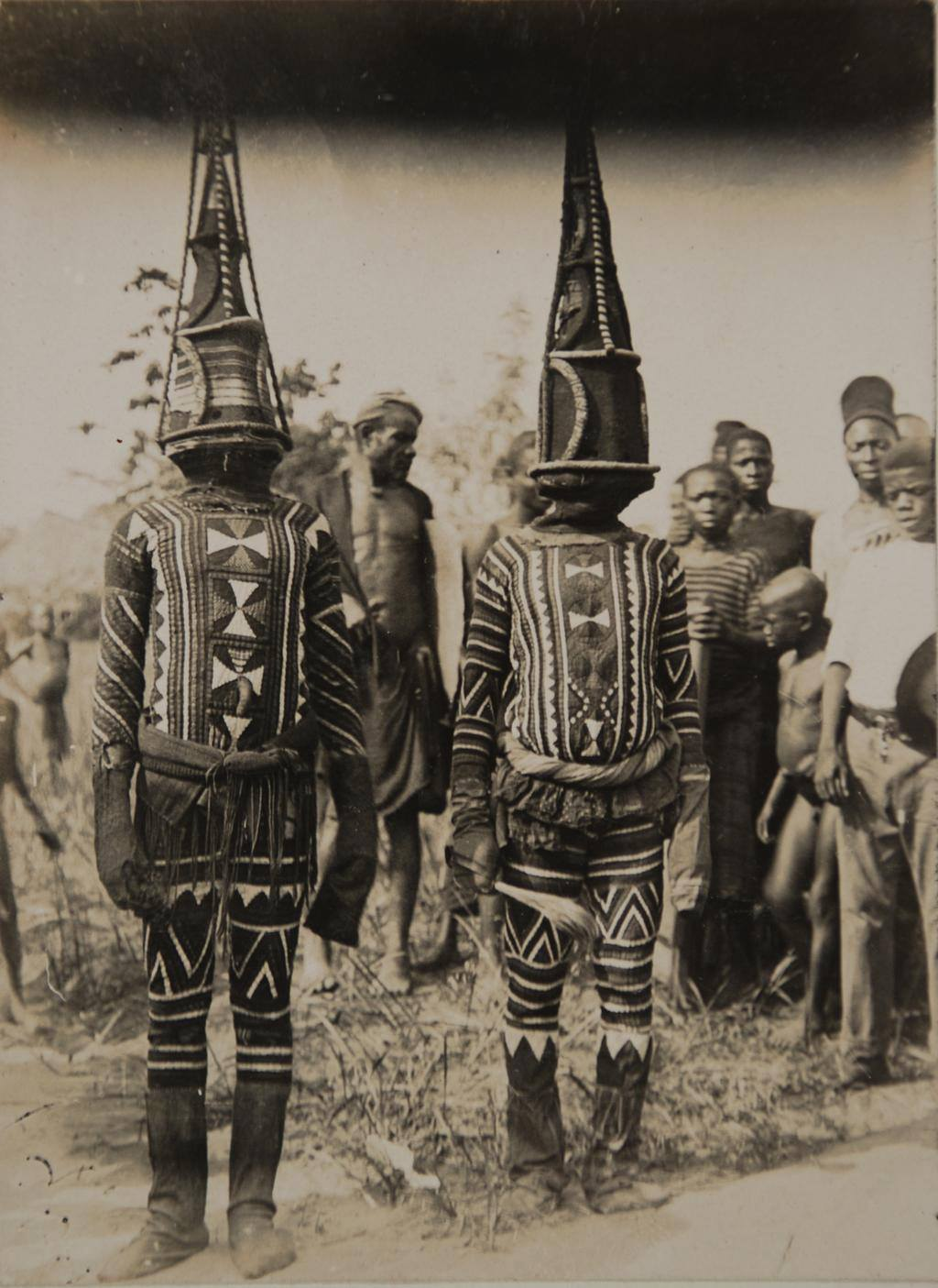 Igbo masquerade dancers. Nri-Awka region, Nigeria. Early 1900s . Photo by Northcote Thomas
