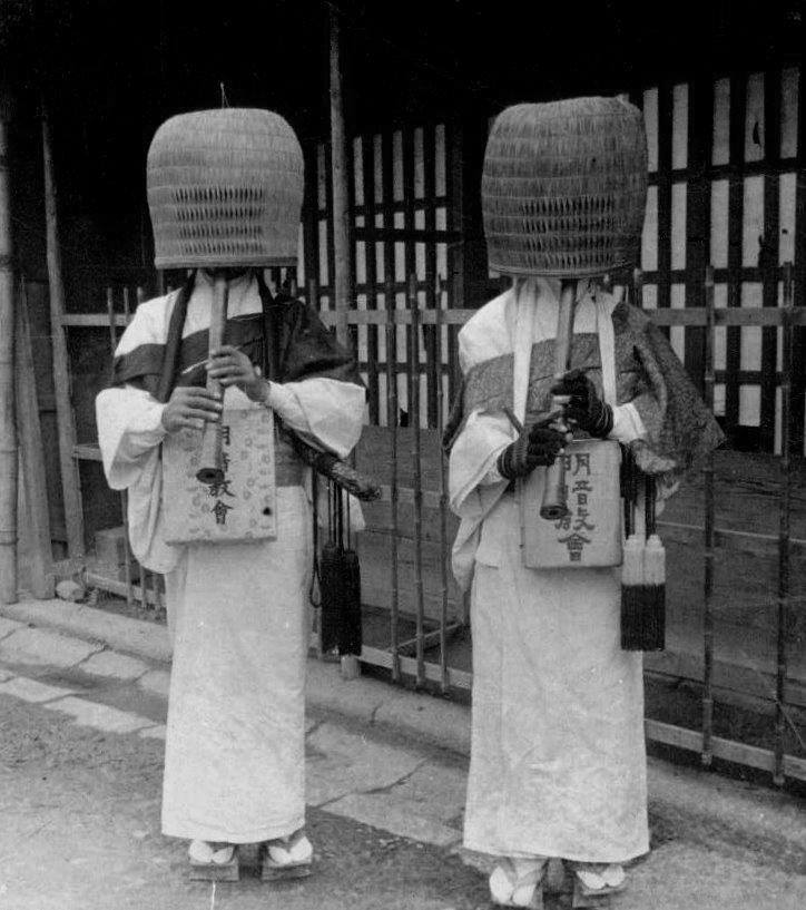 Julian Cochrane, Komusō mendicant monks, Japan, 1904