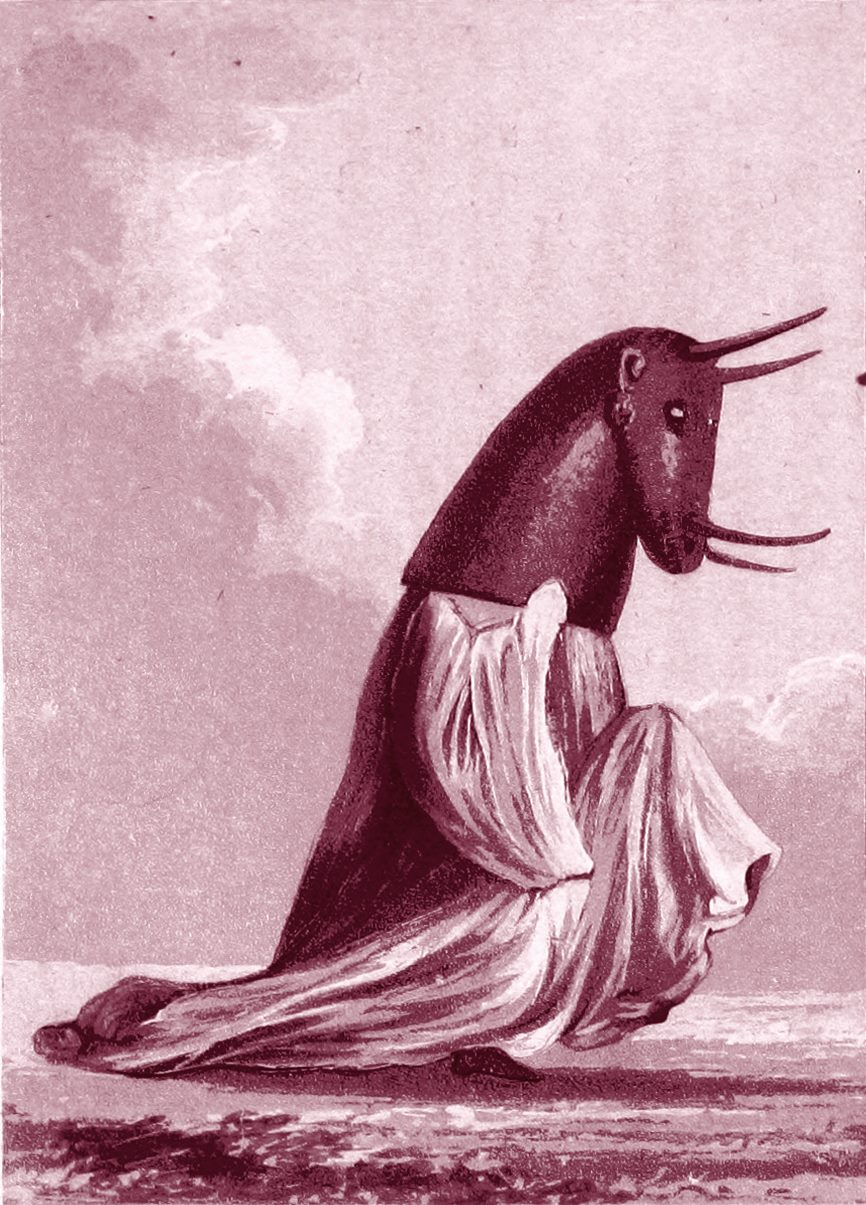 'Shaman' , illustration från 'Travels in Western Africa in the Years 1819-21' av William Gray, publiserad 1825