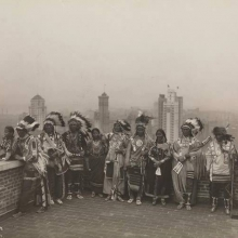Native Americans on the roof of the McAlpin Hotel, New York, 1913