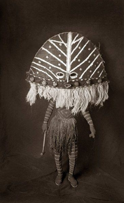 Likukulengue. Mask and costume from the Chokwe of Zambia. Photo by Francois d'Elbee