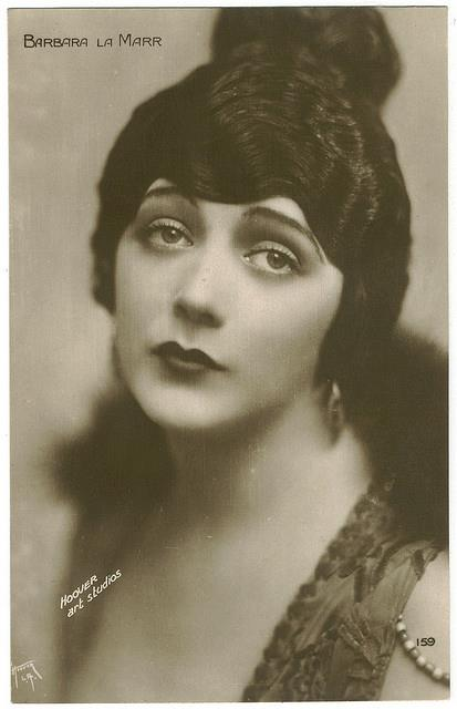"Barbara La Marr (July 28, 1896 – January 30, 1926) was an American stage and film actress, cabaret artist, and screenwriter. La Marr was known as ""The Girl Who Is Too Beautiful,"" after a Hearst newspaper feature writer, Adela Rogers St. Johns, saw a judge sending her home during the police beat in Los Angeles because she was too beautiful and young to be on her own in the big city."