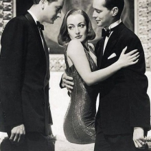 Franchot Tone, Joan Crawford och Robert Young i The Bride Who Wore Red med Claudio Augusto Martinez Alizeri.
