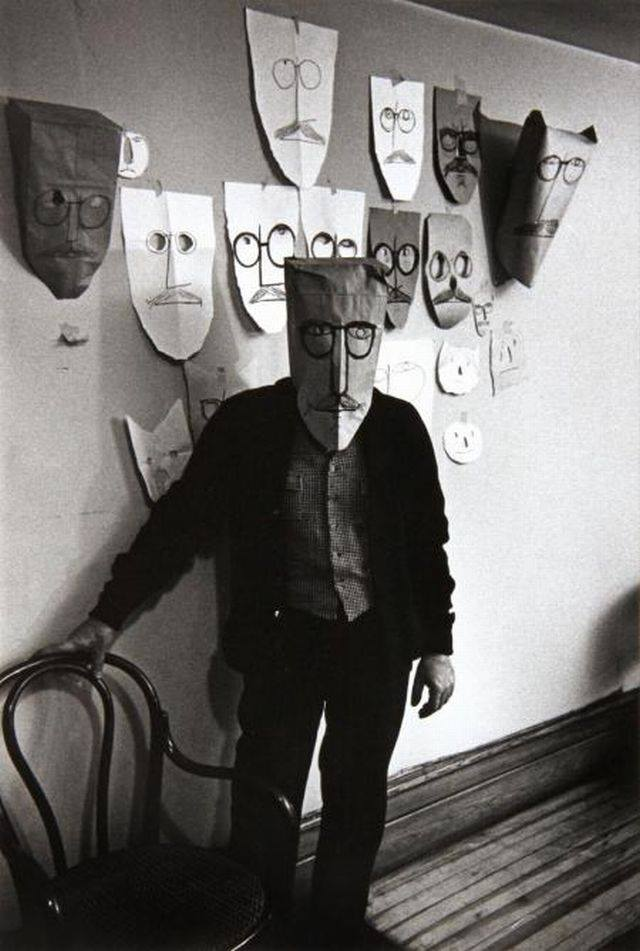 Saul Steinberg , photograph by Inge Morath