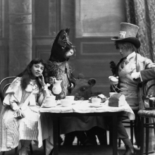 "The Mad Hatter's Tea Party from ""Alice in Wonderland"" at the Opera Comique Theatre in London, 1898"