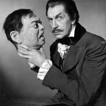 Vincent Price and Peter Lorre's head