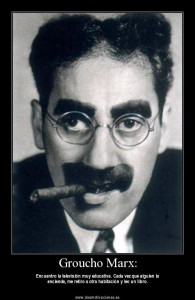"Julius Henry ""Groucho"" Marx, född 2 oktober 1890 på Upper East Side på Manhattan i New York i New York, död 19 augusti 1977 i Los Angeles"